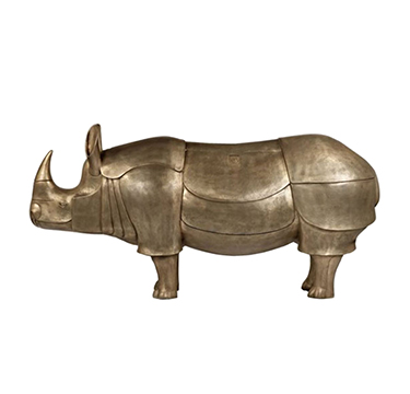 Francois-Xavier Lalanne, 'Rhino-cretaire', number 2 of an edition of 8, c.2005, incised F.x.L and 2/8 and 2005, patinated bronze