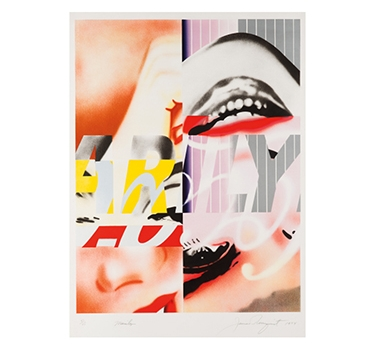 Marilyn, 1975, By James Rosenquist, Edition Of 75