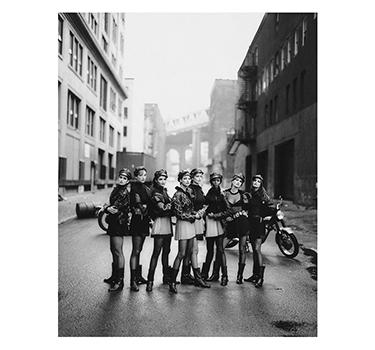 Versace Models, Peter Lindbergh, 1991