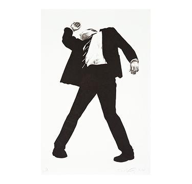 "Rick (from Men in the Cities), Robert Longo, 1994. HC 13 of 18; aside from the edition of 170, Lithograph on Arches Cover paper, Signed and dated lower right; edition lower left sheet 45.875"" x 30""; frame 52"" x 36"""