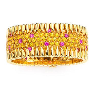 A Yellow and Pink Sapphire Bracelet, by Jean Schlumberger, Tiffany & Co.