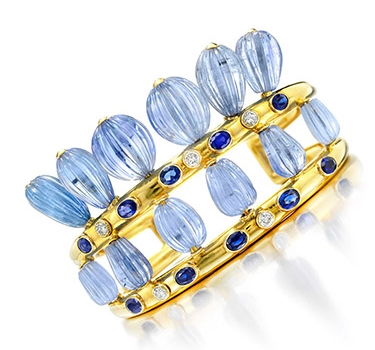 A Sapphire And Diamond Cuff Bracelet, By Suzanne Belperron