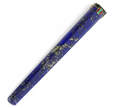 A Lapis Lazuli, Enamel and Gold Cigarette Holder, by Cartier, circa 1925