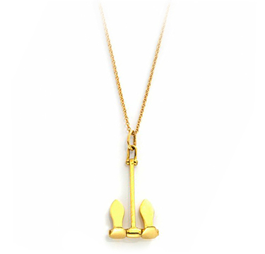 A Gold Anchor Pendant Necklace, by Tiffany & Co., circa 1970