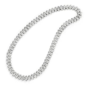 An Art Deco Diamond and Platinum Chain Necklace, circa 1925