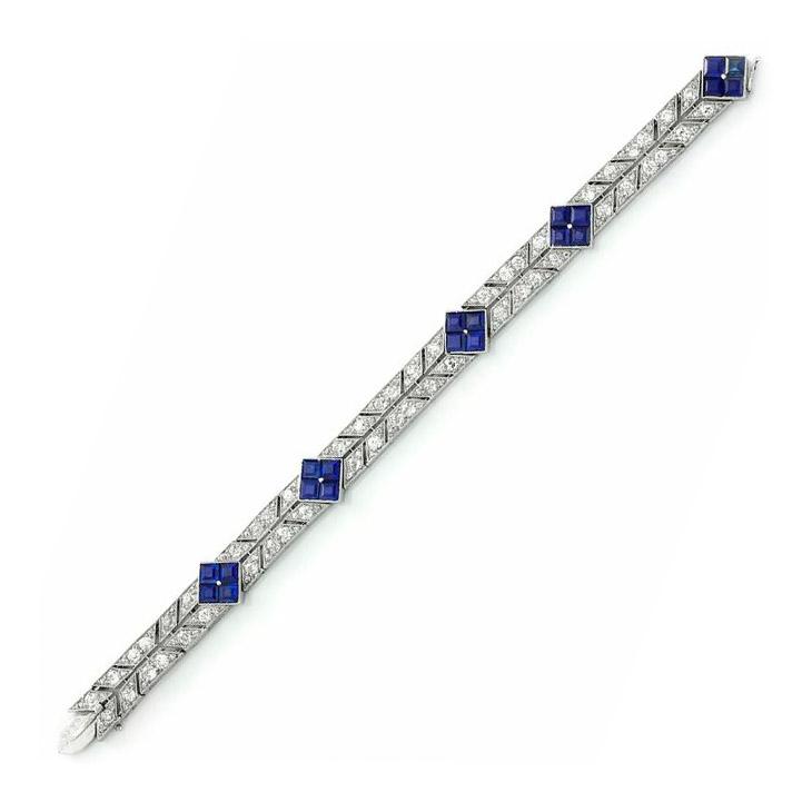 An Art Deco Sapphire and Diamond Bracelet, circa 1925