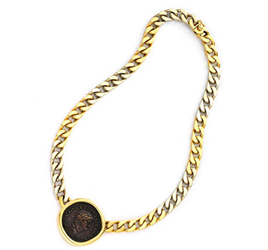 An Ancient Coin And Gold Necklace, By Bulgari, Circa 1985