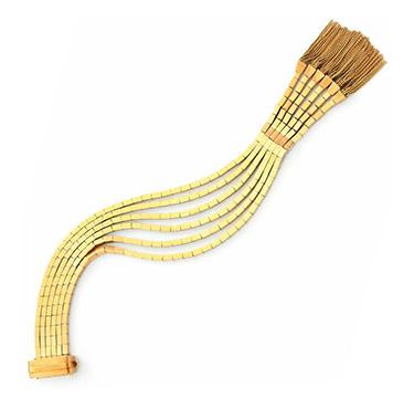 A Retro Gold Tassel Bracelet, circa 1940