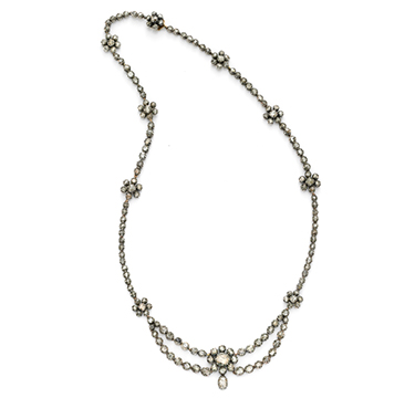 An Antique Rose-cut Diamond Necklace, Georgian