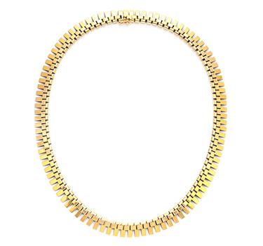 A Retro Gold Necklace, Circa 1940
