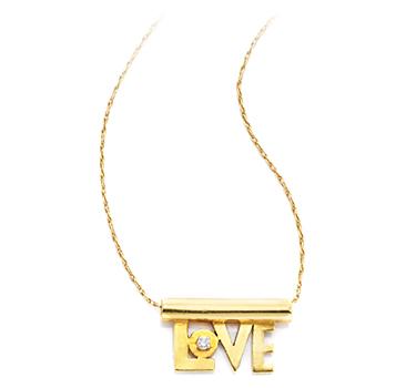 A Gold And Diamond 'Love' Pendant, By Aldo Cipullo