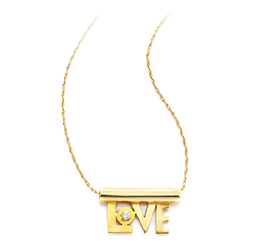 A Gold And Diamond 'Love' Pendant, By Aldo Cipullo