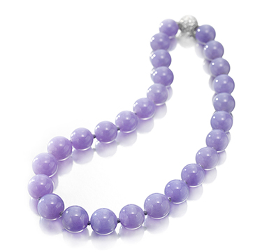 A Single Strand of Lavender Jade Beads