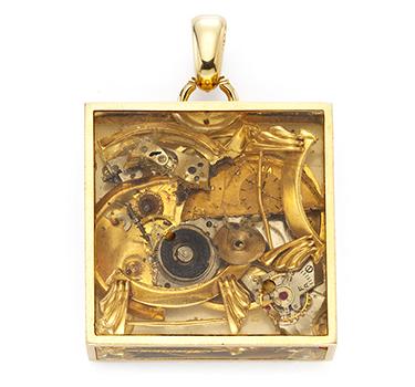 A Gold Pendant By Arman, Circa 1960