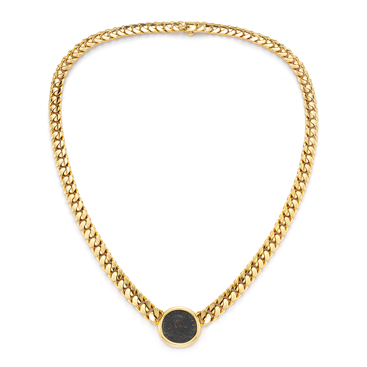 A Gold and Ancient Coin Necklace, by Bulgari