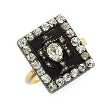 An Antique Diamond 'Momento Mori' Ring, 19th Century