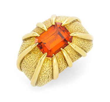 A Garnet And Gold Ring, By Jean Shlumberger, Circa 1960