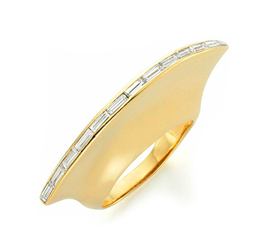 A Diamond And Gold Ring, By Paloma Picasso, For Tiffany & Co., Circa 1995