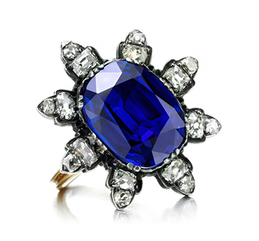An Antique Burmese Sapphire And Diamond Ring, Of 10.00 Carats, 19th Century