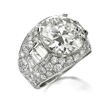 A Diamond 'Trombino' Ring, Of 10.10 Carats, By Bulgari, Circa 1935