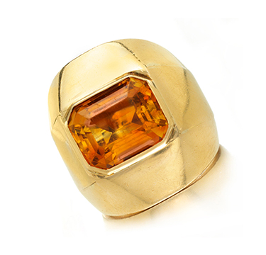 A Gold And Citrine Ring, By Suzanne Belperron, Circa 1940