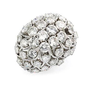 A Diamond And Platinum Ring, By David Webb, Circa 1960