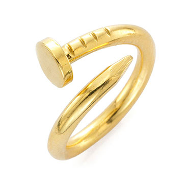 A Gold Nail Ring, By Aldo Cipulo, Circa 1970