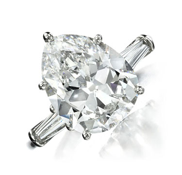A Pear-shaped Diamond Ring, of 5.25 carats