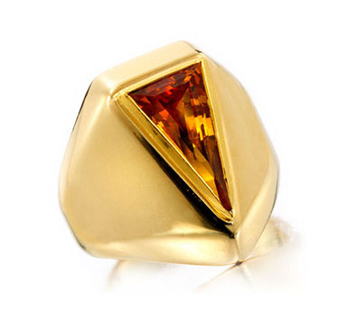 A Citrine And Gold Ring, By Suzanne Belperron, Circa 1940