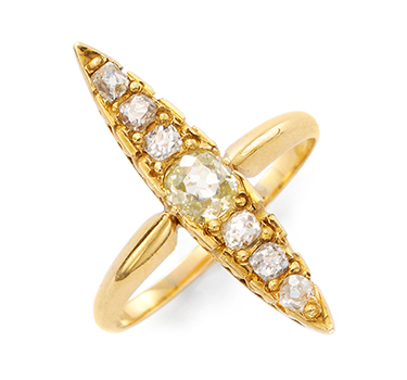 An Antique Old European-cut Diamond And Gold Ring