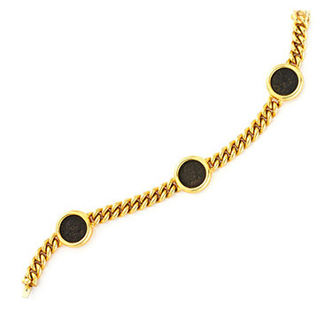 An Ancient Coin And Gold Bracelet, By Bulgari