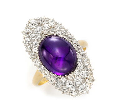 A Belle Epoque Amethyst and Diamond Ring, by Bailey Banks & Biddle, circa 1910