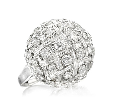 A Diamond Dome Ring, by Harry Winston, circa 1950