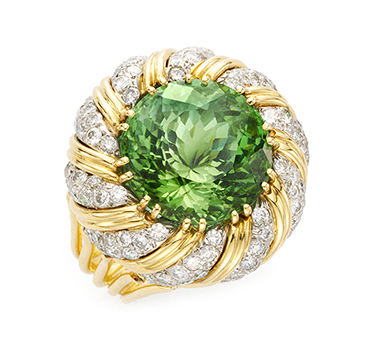 A Tourmaline And Diamond Ring, By Verdura