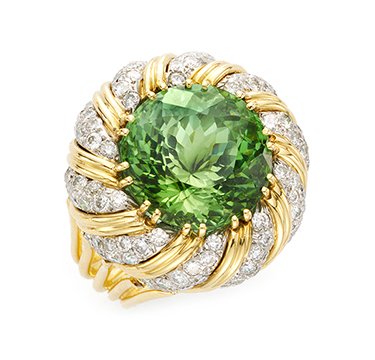A Tourmaline and Diamond Ring, by Verdura