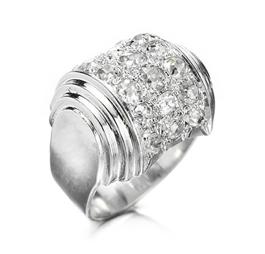 A Diamond and Platinum Ring, by Boivin, circa 1930