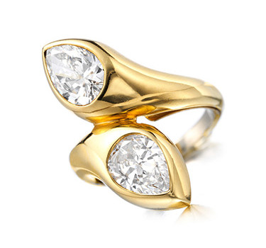 A Diamond And Gold 'Toi Et Moi' Ring, By Bulgari
