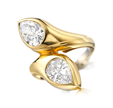 A Diamond and Gold 'Toi et Moi' Ring, by Bulgari