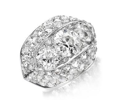 A Diamond And Platinum Ring, By Suzanne Belperron, Circa 1935