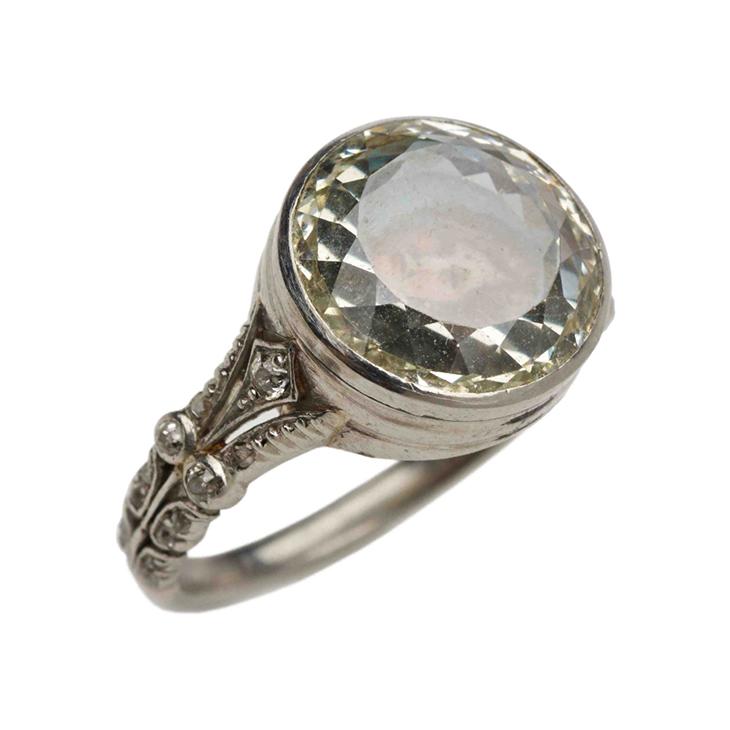 An Antique Diamond Portrait Ring