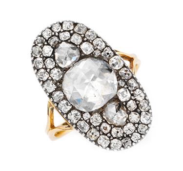 A Georgian Rose-cut Diamond Ring, Circa 1820