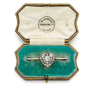 An Antique Heart Pin Bar Brooch, Circa 1900