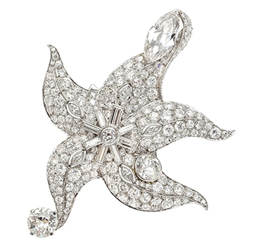 A Diamond Starfish Brooch By Paul Flato, Circa 1938