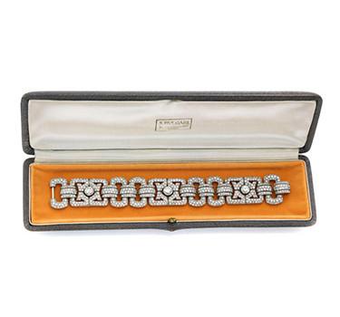 An Art Deco Diamond Bracelet, By Bulgari, Circa 1920