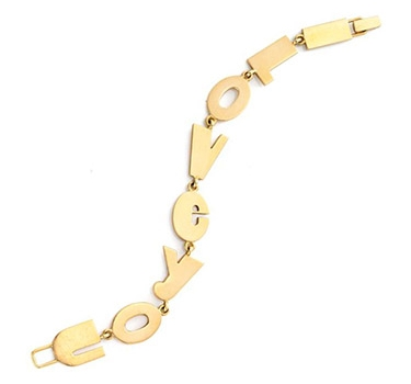 A Gold 'I Love You' Bracelet