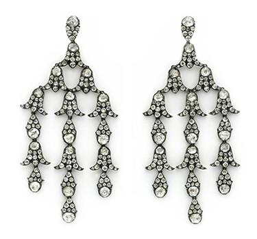 A Pair Of Antique Diamond Girandole Ear Pendants, Circa 19th Century