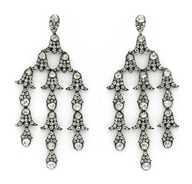 A Pair of Antique Diamond Girandole Ear Pendants, circa 19th Century