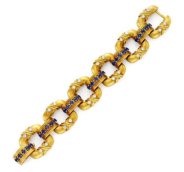 A Sapphire And Diamond 'Cooper' Bracelet, By Tiffany & Co., Circa 1960