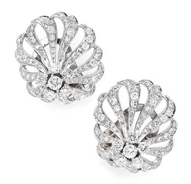 A Pair of Diamond Ear Clips, by Marianne Ostier