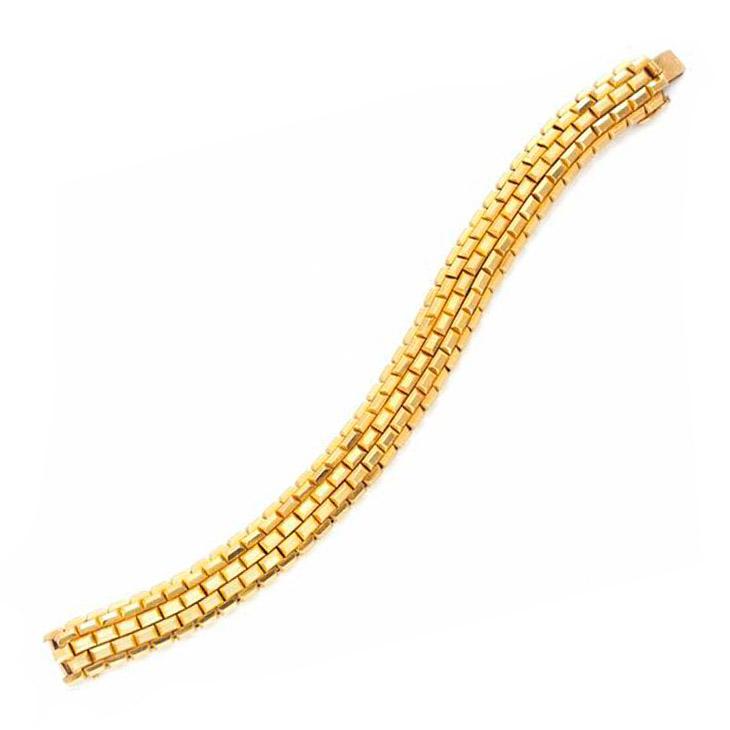 A Retro Gold Bracelet, by Boucheron, circa 1940